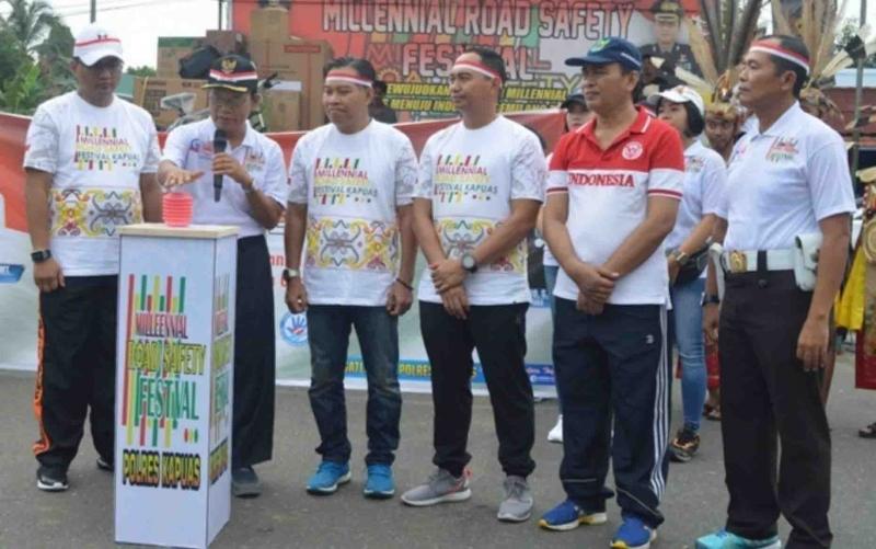 Millenial Road Safety Festival yang digelar Polres Kapuas.
