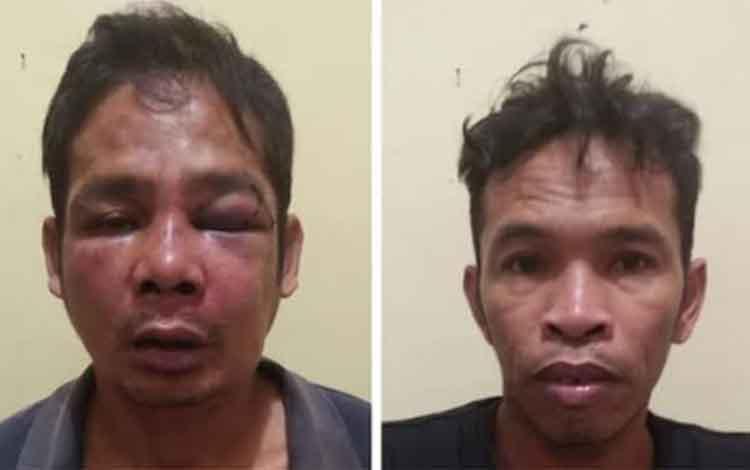 Dua tersangka pencuri sarang burung walet di Jalan Depag Kasongan saat ini diamankan di Mapolres Katingan.