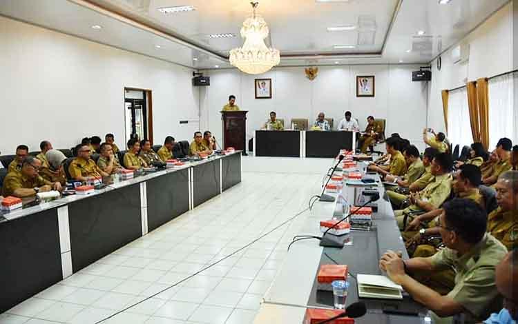 Pelaksanaan entry meeting Pemkab Barito Utara bersama BPK RI.