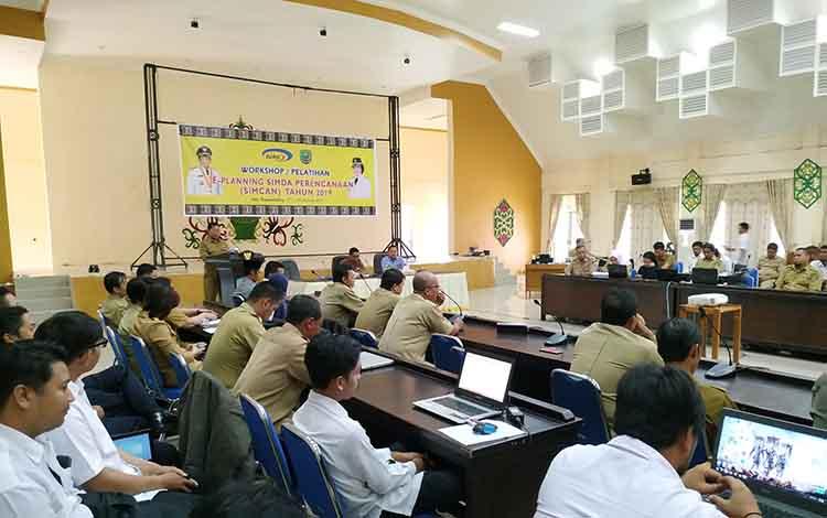 Kegiatan  Pelatihan E-Planning dan Sistem Informasi Manajemen Daerah (Simda) di Pulang Pisau, Selasa (12/2/2019).