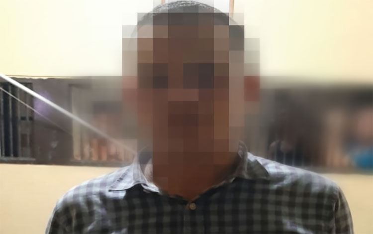 Terduga pelaku penggelapan diamankan di Polres Palangka Raya