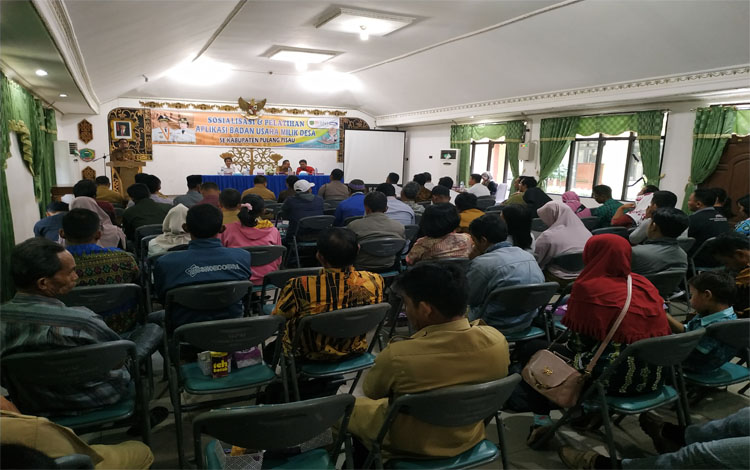 Sosialisasi dan Pelatihan BUMDes di Pulang Pisau, Selasa (12/3/2019)