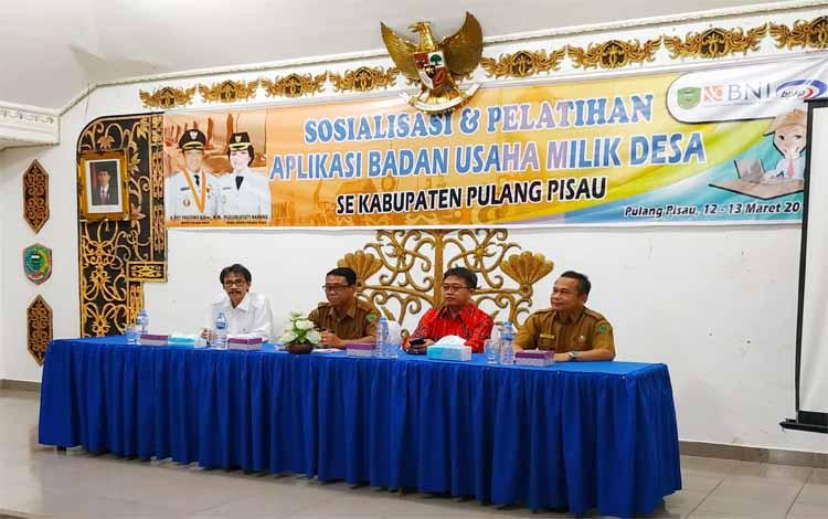 Sosialiasi dan pelatihan BUMDes di Pulang Pisau, Selasa (12/3/2019)