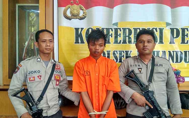 Per, salah seorang anggota komplotan pencuri kendaraan bermotor di Jalan Jati, Kota Palangka Raya.