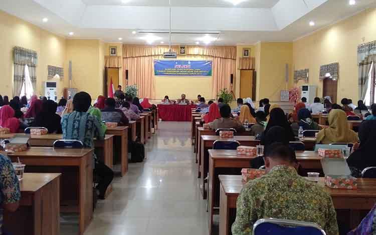Pembukaan OSN tingkat SMP/MTs yang digelar Dinas Pendidikan dan Kebudayaan Kabupaten Sukamara, Jumat (15/7/2019).