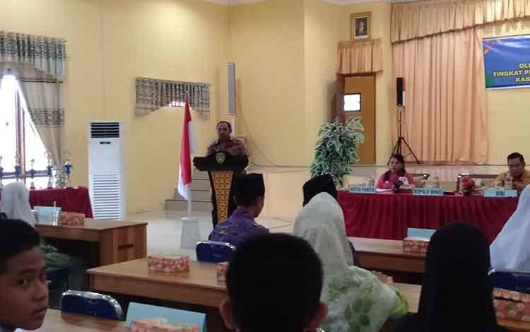 Pembukaan OSN tingkat SMP/MTs yang digelar Dinas Pendidikan dan Kebudayaan Sukamara, Jumat (15/3/2019).