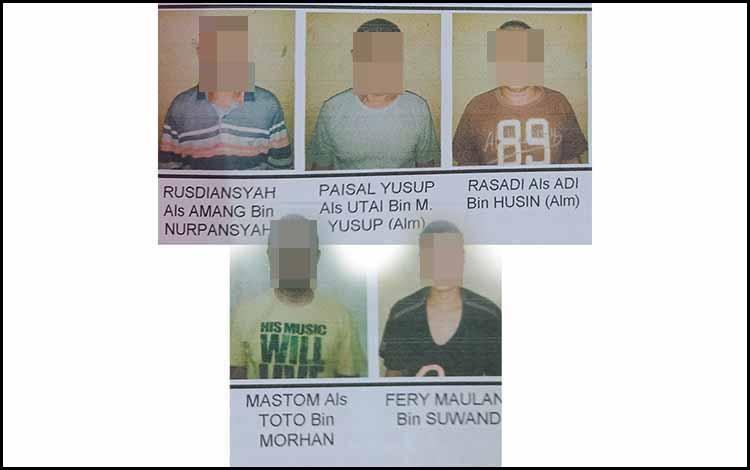 Rus alias Am, PY alias Ut, Ras alias A, Mas alias To, FM tersangka kasus penipuan