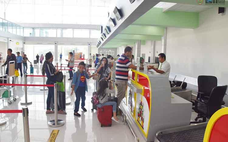 Aktivitas transportasi di Bandara Tjilik Riwut Palangka Raya