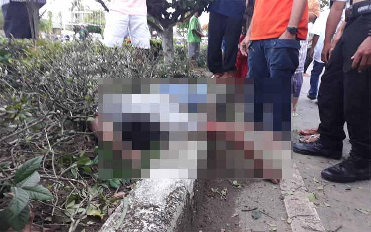 Kondisi korban kecelakaan di Jalan Pemuda Km 1,5 Kuala Kapuas pada Kamis (4/4/2019) sore