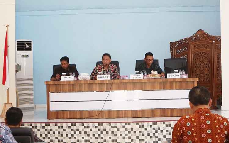 Entry meeting BPK RI di Kabupaten Pulang Pisau.
