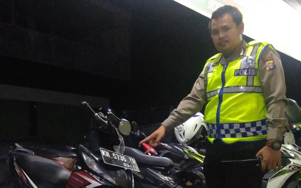 Sepeda motor korban ZH telah diamankan petugas Satuan Lalu Lintas Polres Palangka Raya, Sabtu (6/4/2019).