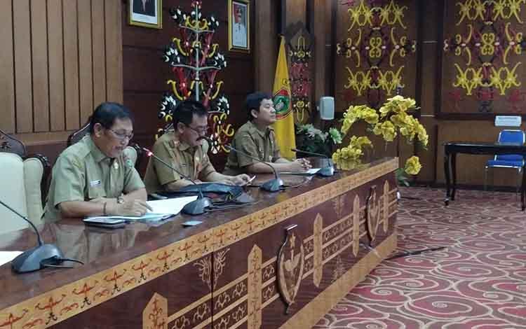 Vidio Conference Kesbangpol dengan Kemendagri terkait kesiapan pemilu 2019, Selasa (16/4/2019)
