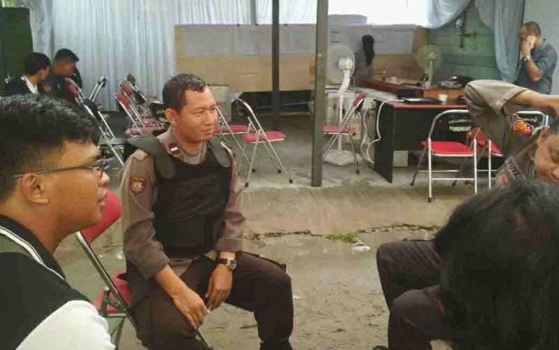 Personel kepolisian untuk pengamanan Pemilu 2019.