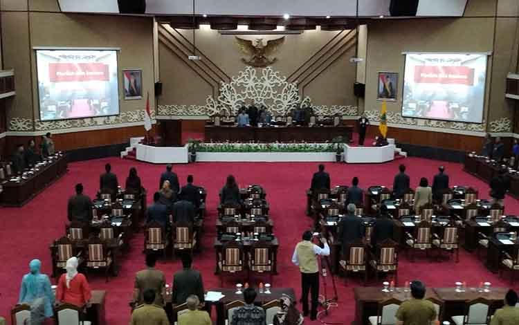 Rapat Paripurna DPRD Kalteng, Senin (22/4/2019).