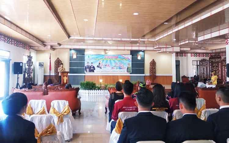 Pembukaan Festival Palangka dan pemilihan Putra Putri Pariwisata di Rumah Jabatan Wali Kota Palangka Raya, Senin (22/4/2019).