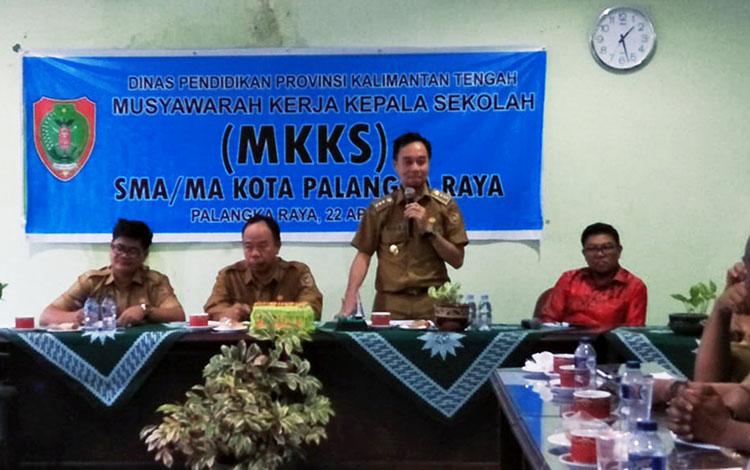 Kegiatan Musyawarah Kerja Kepala Sekolah di SMA Muhammadiyah Palangka Raya, Sabtu (27/4/2019)