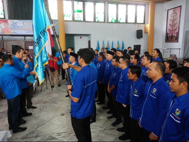 Pelantikan pengurus DPD KNPI Kalteng.