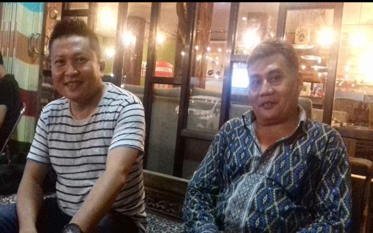 Ketua Badan Pemenangan Pemilu PAN Dadang H Syamsu dan Ketua DPC PAN Mentaya Hulu, Ahmad Sastra