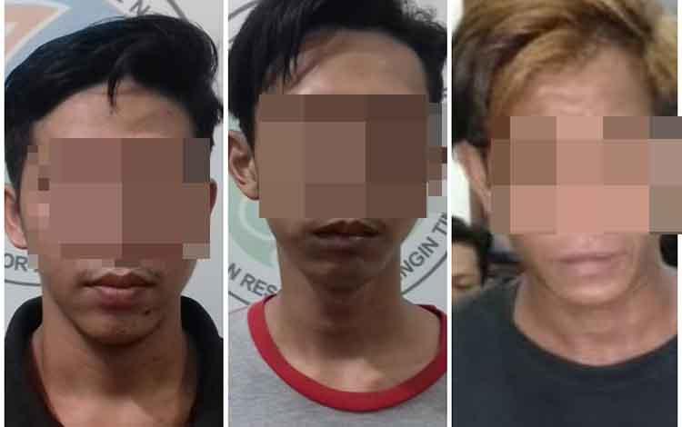Tiga budak sabu yang ditangkap Satreskoba Polres Kotim, Rabu, 30 April 2019