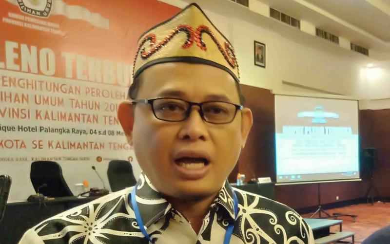 Ketua KPU Kalteng, Harmain Ibrohim.