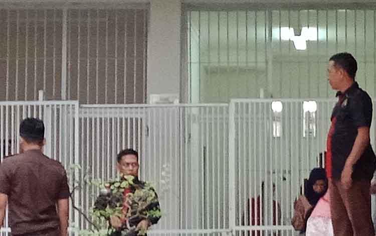 Suasana sel tahanan Pengadilan Negeri Sampit.