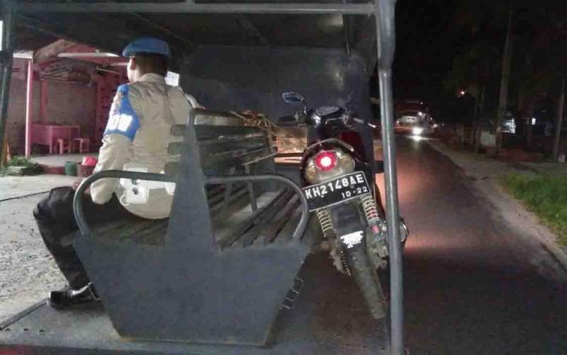 Motor tak bertuang diangkut ke Polres Palangka Raya.