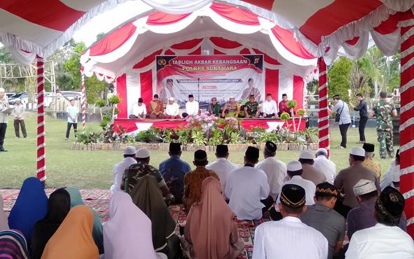 Polres Sukamara menggelar Tablig Akbar Kebangsaan, Sabtu, 11 Mei 2019.