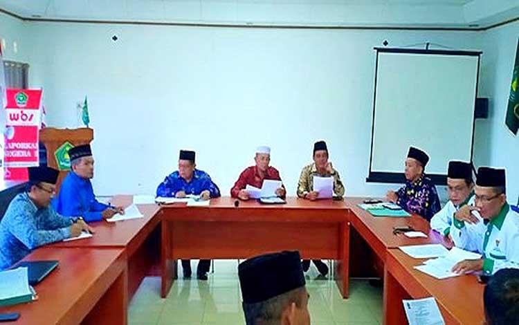 Kementerian Agama Barito Utara melaksanakan rapat penetapan zakat 1440 Hijriah