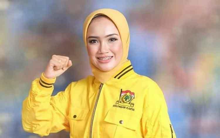 Caleg DPRD Lamandau terpilih dari partai Golkar Dapil Lamandau III, Brilian Andriacitra Amelia