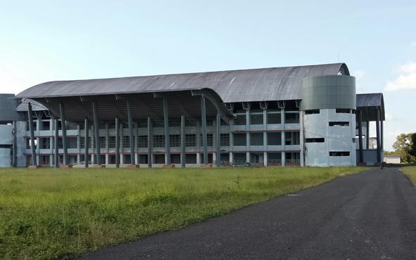 GOR Indoor di Jalan Tjilik Riwut, Km 5, Kota Palangka Raya, segera difungsikan.
