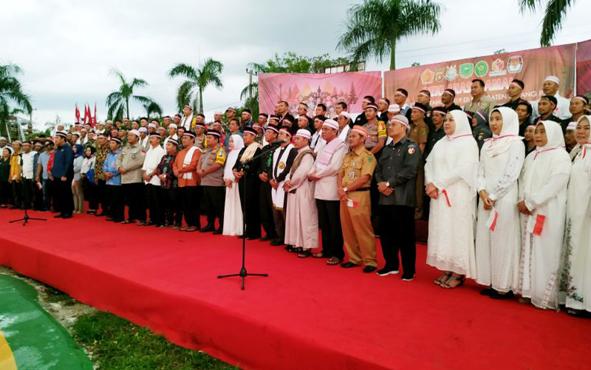 Deklarasi damai kebangsaan yang digelar Polres Pulang Pisau sebelum waktu berbuka puasa, Selasa 21 Mei 2019.