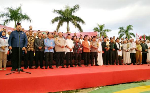 Deklarasi Damai Kebangsaan yang digelar Polres Pulang Pisau,  Selasa, 21 Mei 2019 sore.