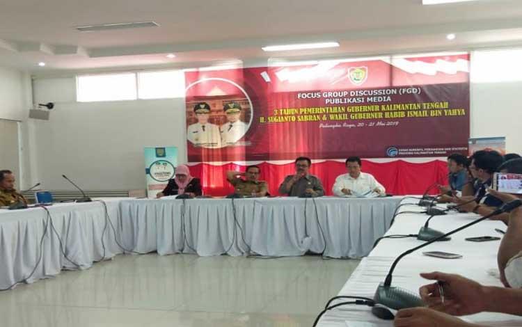 Kegiatan FGD media dengan kepala SOPD Provinsi Kalimantan Tengah