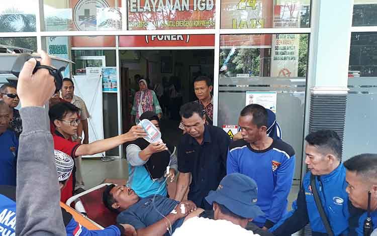 Salah satu korban keracunanan makanan yang dirujuk ke RSUD Kapuas pada Jumat, 24 Mei 2019