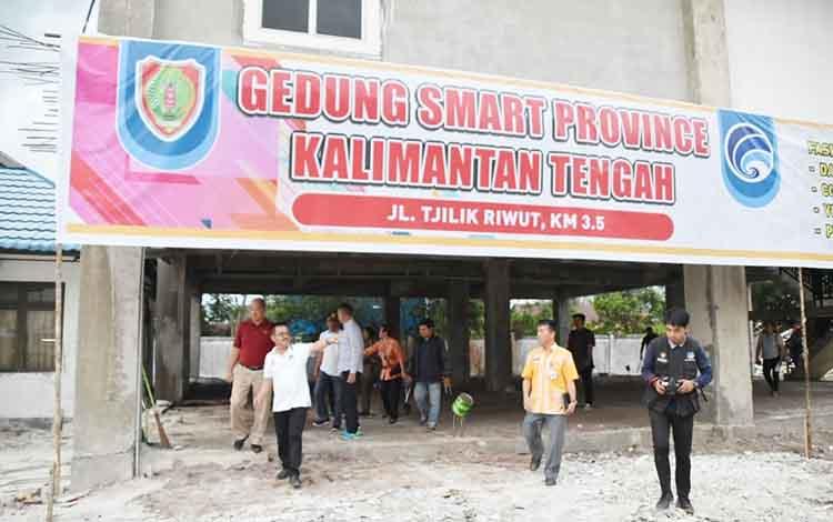 Bangunan GSP kominfo yang terletak di Jalan Tjilik Riwut Km 3,5 Palangka Raya.