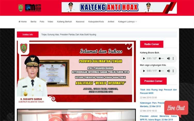 Website MMC Kalteng di alamat mmc.kalteng.go.id
