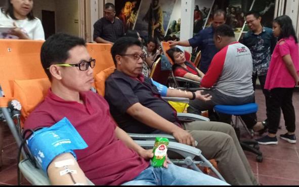 Donor darah yang dilakukan jemaat gereja di Sampit.