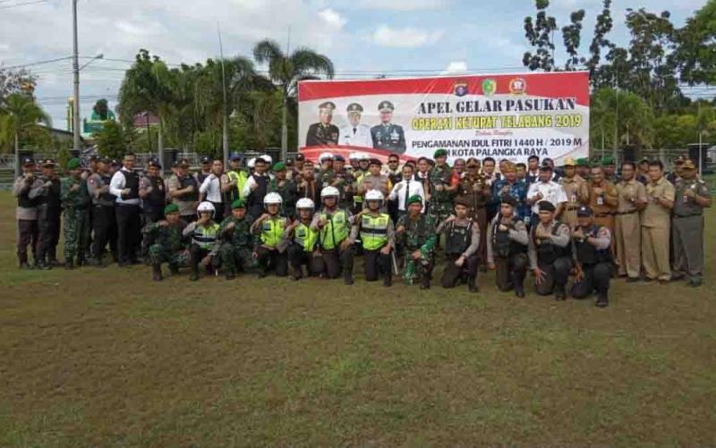 Apel gelar pasukan Operasi Ketupat Telabang 2019 Polres Palangka Raya.