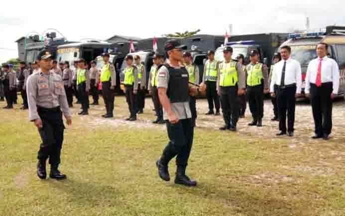 Apel gelar pasukan Operasi Ketupat Telabang 2019 di Polres Katingan, Selasa, 28 Mei 2019.