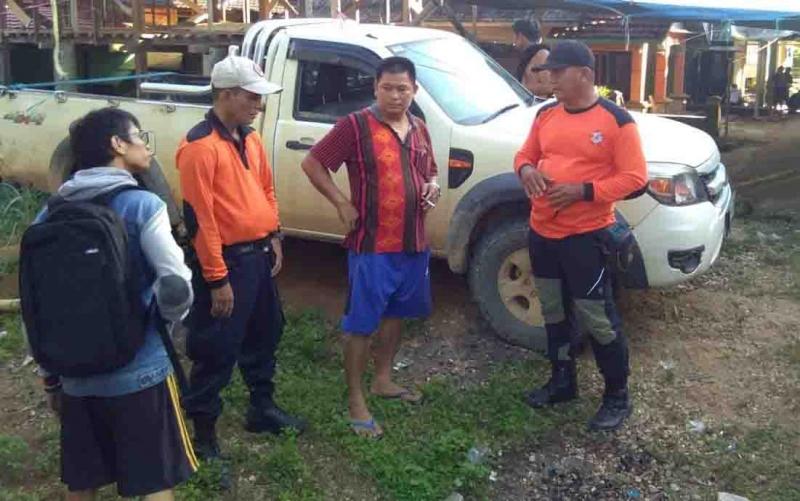 Proses pencarian korban hilang di Gunung Muro, Murung Raya, Senin, 3 Juni 2019.