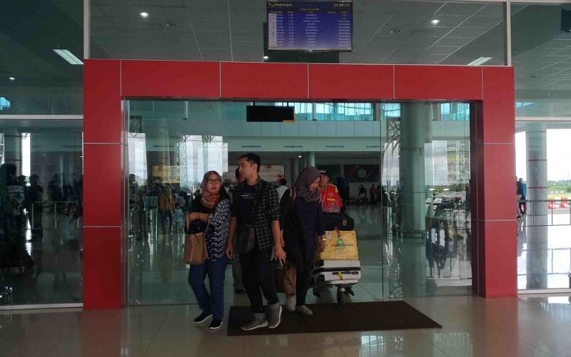 Terminal kedatangan Bandara Tjilik Riwut.