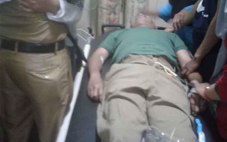 Sugianto camat Telawang meninggal dunia, saat di rumah sakit dr Murjani Sampit.
