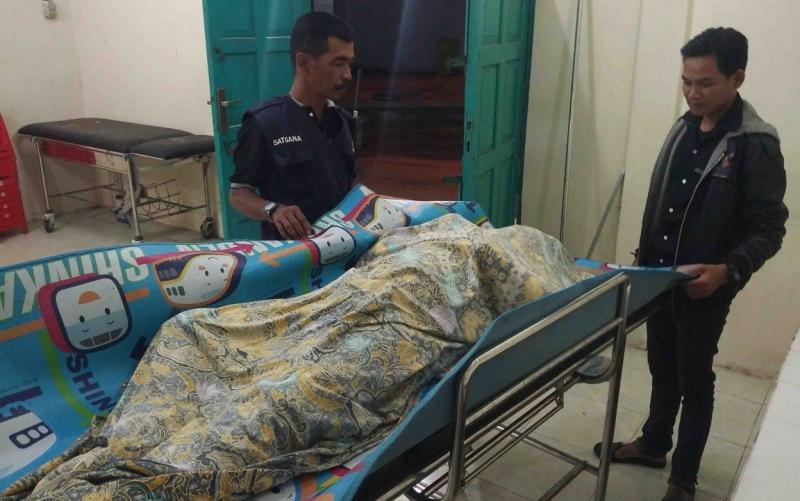 Jasad MH di kamar mayat RSUD dr Murjani Sampit.