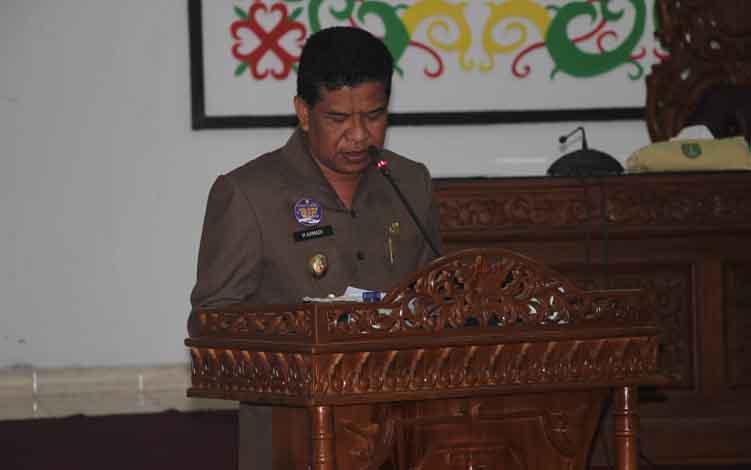 Wakil Bupati Sukamara, H Ahmadi.