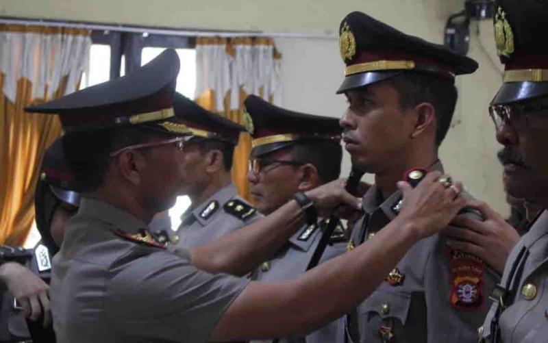 Serah terima jabatan 8 perwira Polres Katingan, Rabu, 12 Juni 2019.