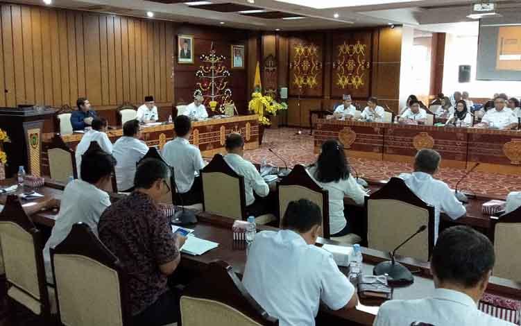 Rapat pembahasan rencananya festival bakar jagung dan Festival Budaya Isen Mulang, Rabu, 12 Juni 2019.