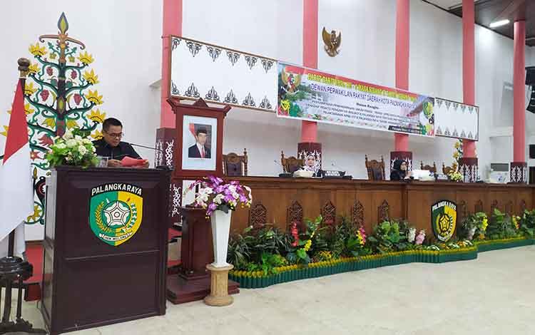 Ketua merangkap Juru Bicara Fraksi Partai Gerindra, DPRD Kota Palangka Raya, Alfian Batnakanti menya