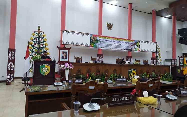 Juru Bicara Fraksi Partai Gerindra DPRD Kota Palangka Raya, Alfian Batnakanti.