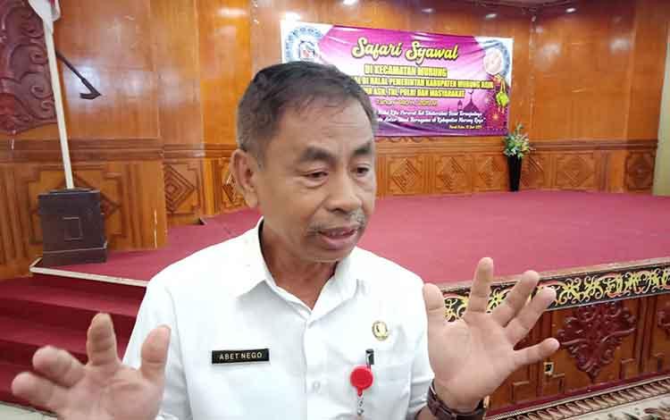 Foto: Kepala Badan Kesatuan Bangsa dan Politik Murung Raya, Abet Nego