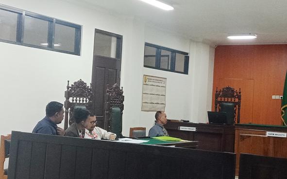 Sidang praperadilan yang dilayangkan kepada Kejaksaan Negeri Kotawaringin Timur di Pengadilan Negeri Sampit, Kamis, 13 Juni 2019.